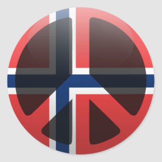 Peace in Norway Stickers