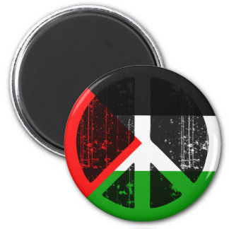 Peace In Palestine 2 Inch Round Magnet
