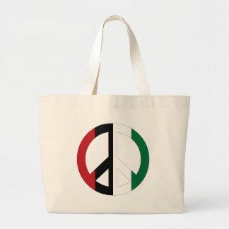 Peace in Palestine Large Tote Bag