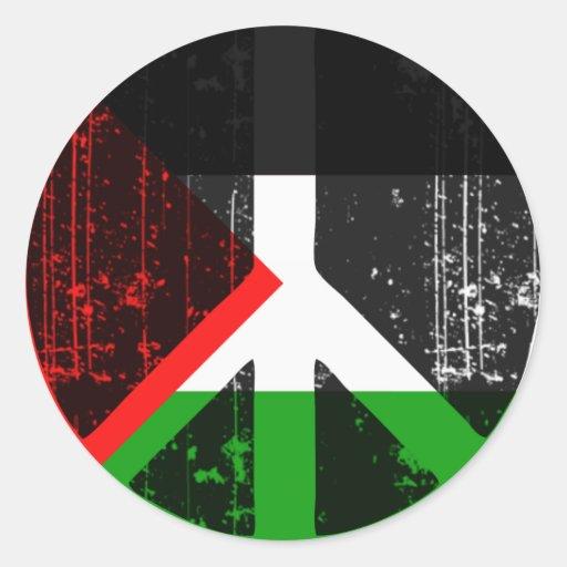 Peace In Palestine Round Sticker
