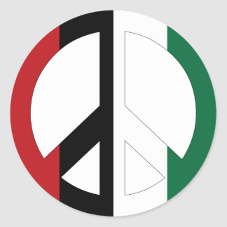 Peace in Palestine Round Stickers