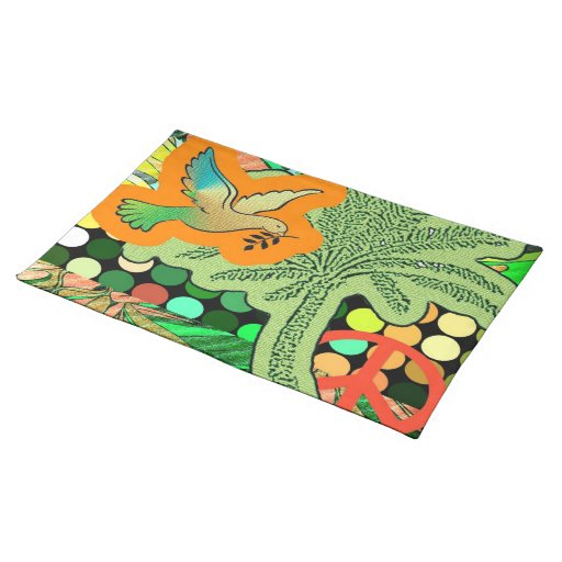 Peace in Paradise Cloth Placemat