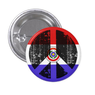 Peace In Paraguay 1 Inch Round Button