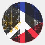 Peace In Philippines Classic Round Sticker