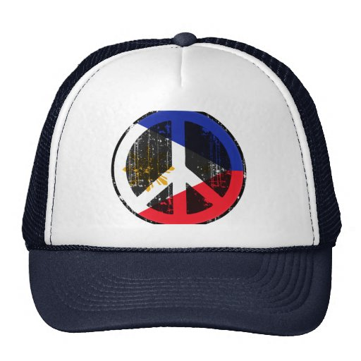 Peace In Philippines Trucker Hat