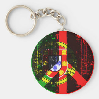 Peace In Portugal Basic Round Button Keychain