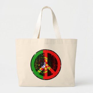 Peace In Portugal Large Tote Bag