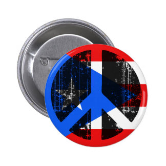 Peace In Puerto Rico 2 Inch Round Button