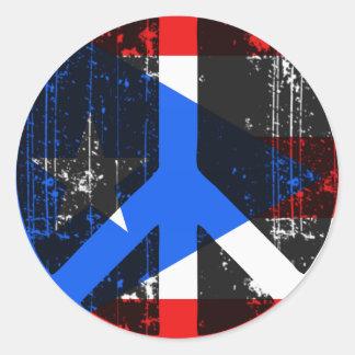 Peace In Puerto Rico Classic Round Sticker