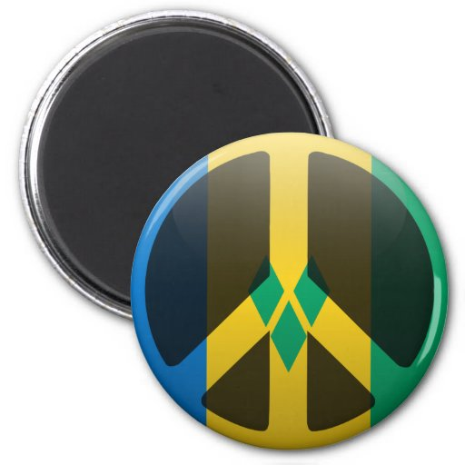 Peace in Saint Vincent and the Grenadines 2 Inch Round Magnet