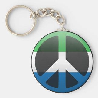 Peace in Sierra Leone Key Chain