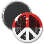 Peace In Singapore Fridge Magnets