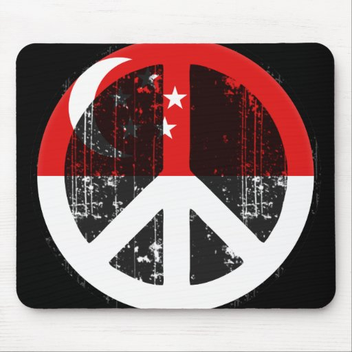Peace In Singapore Mouse Pad