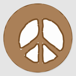 Peace in Soil Classic Round Sticker