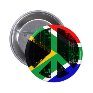 Peace In South Africa 2 Inch Round Button