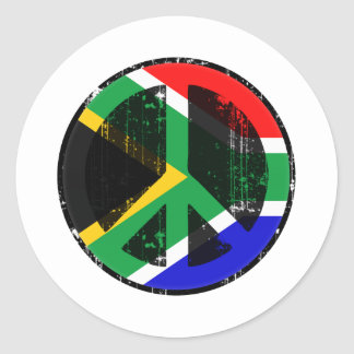 Peace In South Africa Classic Round Sticker
