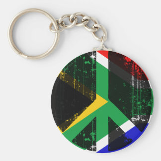 Peace In South Africa Basic Round Button Keychain