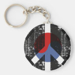Peace In South Korea Basic Round Button Keychain