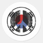 Peace In South Korea Round Sticker