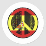 Peace In Spain Stickers