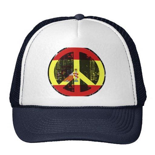 Peace In Spain Trucker Hats