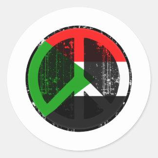 Peace In Sudan Classic Round Sticker