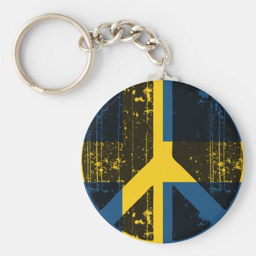 Peace In Sweden Key Chain
