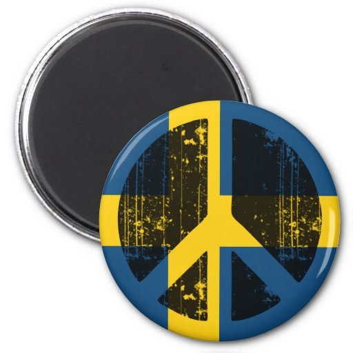Peace In Sweden Magnets