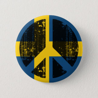 Peace In Sweden Pinback Button