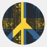 Peace In Sweden Round Sticker