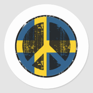 Peace In Sweden Round Stickers