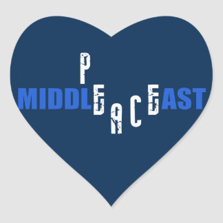 Peace in the Middle East Heart Sticker