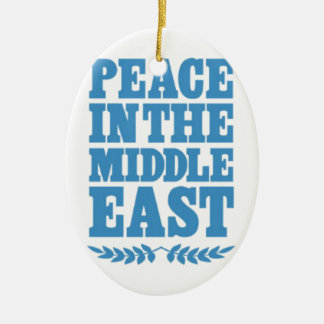Peace in the Middle East Christmas Tree Ornaments