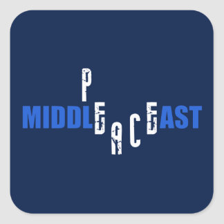 Peace in the Middle East Square Sticker
