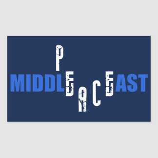 Peace in the Middle East Rectangular Sticker