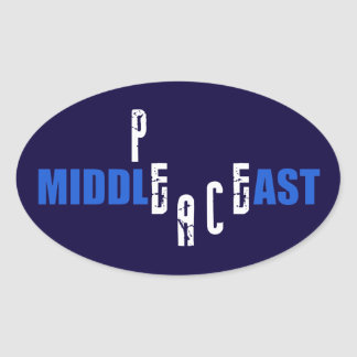 Peace in the Middle East Oval Sticker