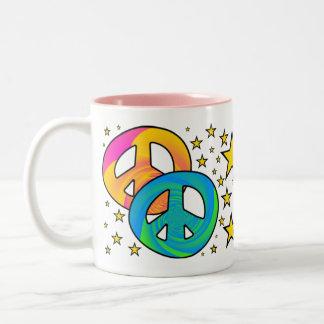 PEACE IN THE STARS Two-Tone COFFEE MUG