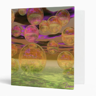 Peace in the Storm – Violet and Amber Tranquility Binder