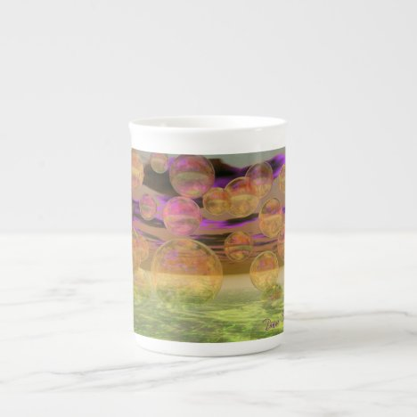 Peace in the Storm – Violet and Amber Tranquility Bone China Mug