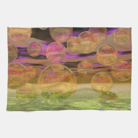 Peace in the Storm – Violet and Amber Tranquility Hand Towel
