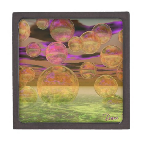 Peace in the Storm – Violet and Amber Tranquility Keepsake Box
