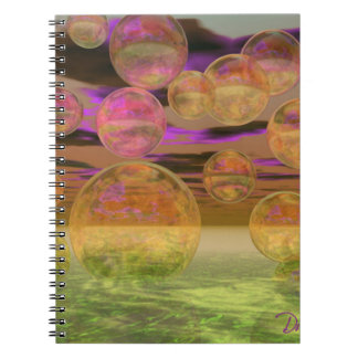 Peace in the Storm – Violet and Amber Tranquility Notebook