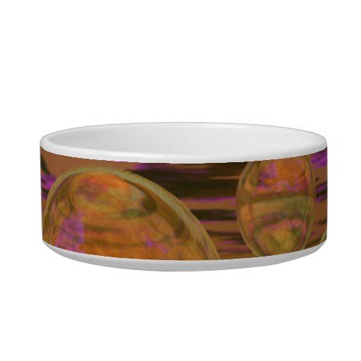 Peace in the Storm – Violet and Amber Tranquility Cat Water Bowls