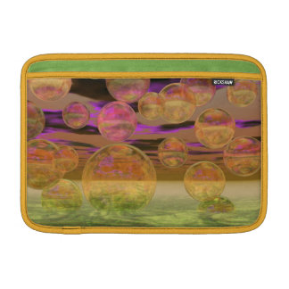 Peace in the Storm – Violet and Amber Tranquility Sleeve For MacBook Air