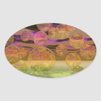 Peace in the Storm – Violet and Amber Tranquility Sticker