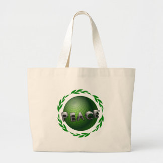 Peace in the World Large Tote Bag