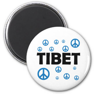 Peace In Tibet 2 Inch Round Magnet