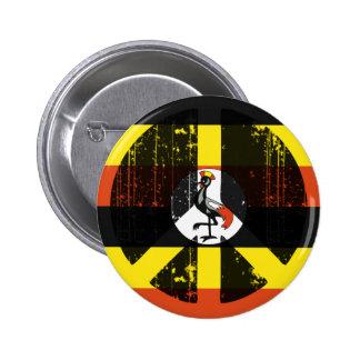Peace In Uganda Button