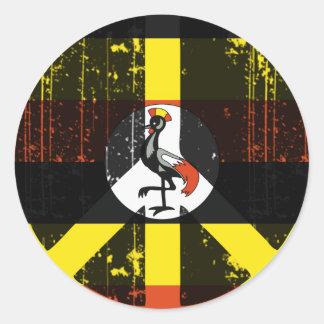 Peace In Uganda Classic Round Sticker