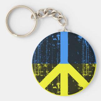 Peace In Ukraine Basic Round Button Keychain